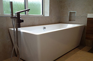 Modernist Wet Room with Bath.