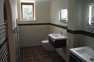 Ensuite with Double Sink & Shower.