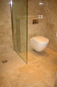 Wet Room with Open Shower.