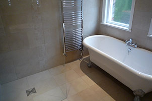 Ensuite Wet Room with Bath.